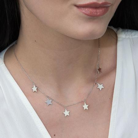 Lănțișor argint rodiat cu steluțe [1]