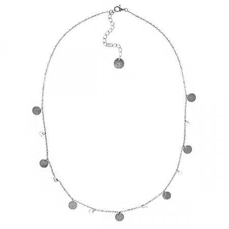 Lănțișor argint rodiat cu bănuți și cristale [2]