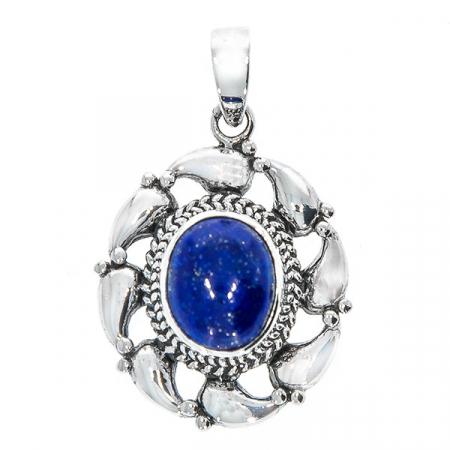 Pandantiv din argint antichizat cu lapis lazuli [1]