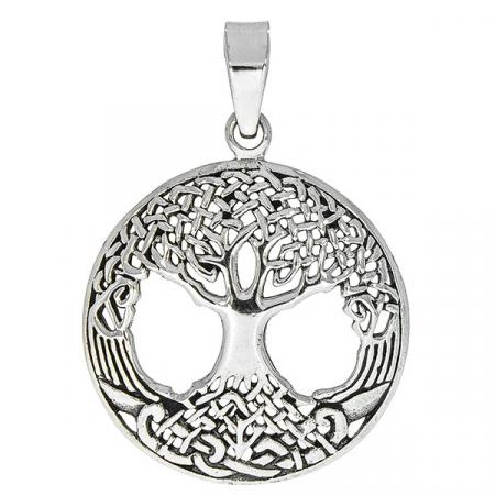 Pandantiv din argint antichizat cu arborele vieții [0]
