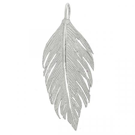 Pandantiv din argint mat-satinat în formă de pană [0]
