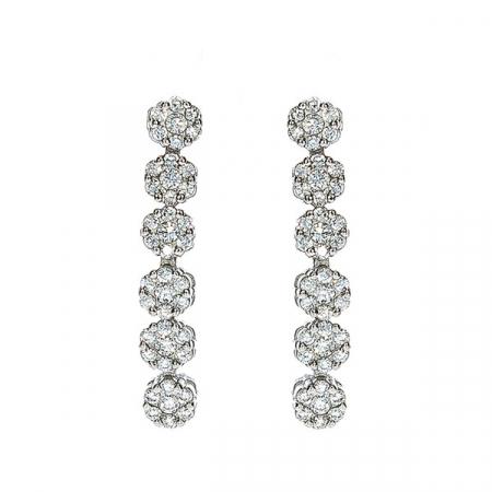 Set bijuterii argint elegant cu cercei și colier cu zirconii [4]
