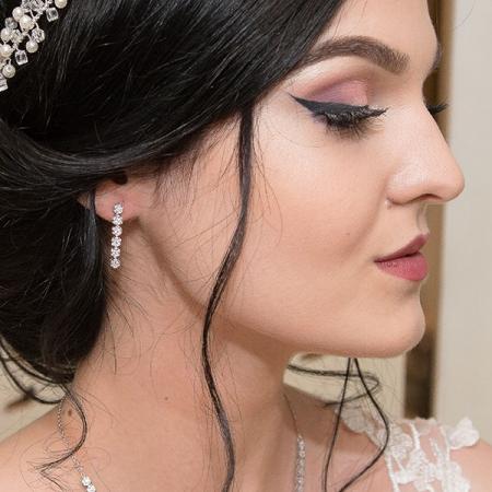 Set bijuterii argint elegant cu cercei și colier cu zirconii [3]