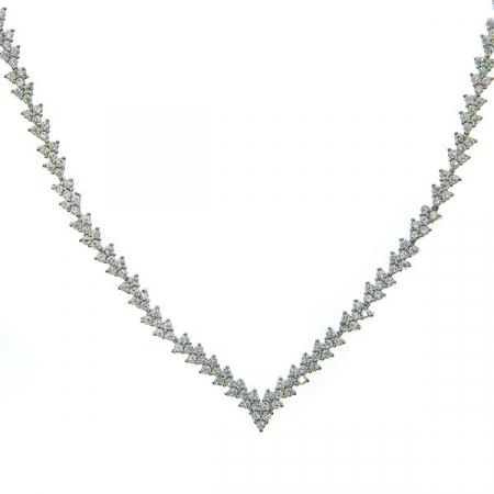 Set elegant din argint cu colier și cercei cu cristale de zirconiu [3]