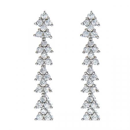 Set elegant din argint cu colier și cercei cu cristale de zirconiu [2]