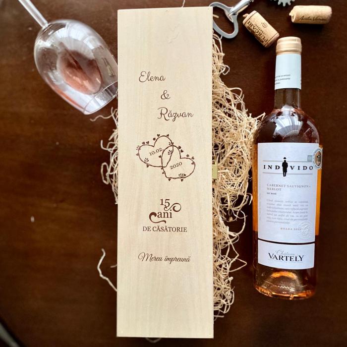 Cutie de vin personalizata-Aniversare casatorie [0]