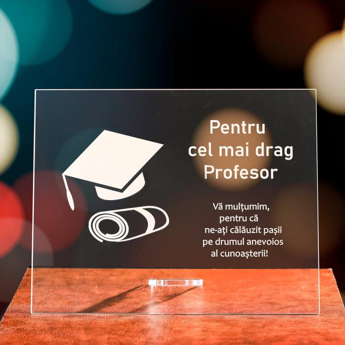 Cadou personalizat Placheta Cel mai drag profesor [0]