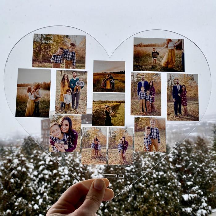 Plachetă personalizată inimă cu 12 poze (30x28 cm) [1]