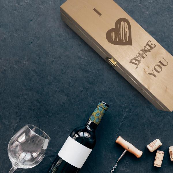 Cutie de vin personalizata- I love you [0]