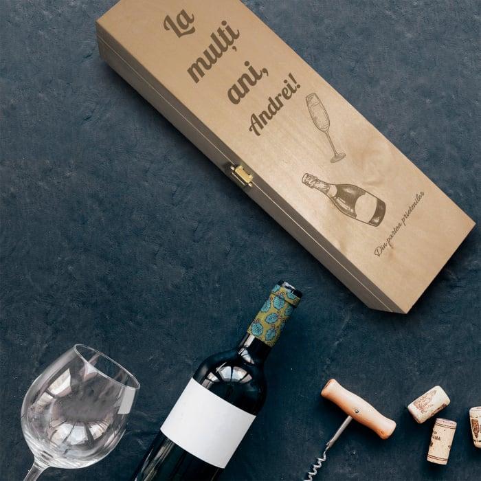 Cadou personalizat Cutie de vin -La multi ani! [0]