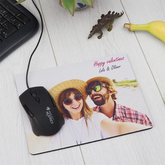 Mouse pad personalizat cu o poza si mesaj [0]