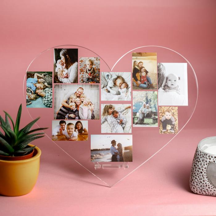 Plachetă personalizată inimă cu 10 poze [0]