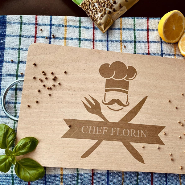 """Tocător de bucătărie personalizat """"Chef"""" [0]"""