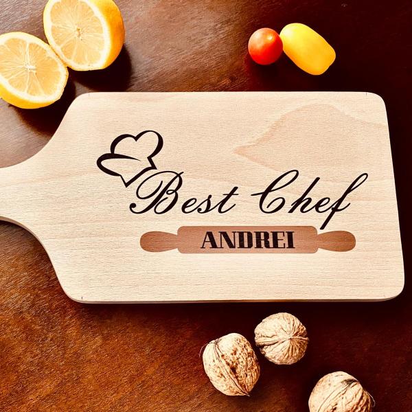 """Tocător de bucătărie personalizat """"Best Chef"""" [0]"""