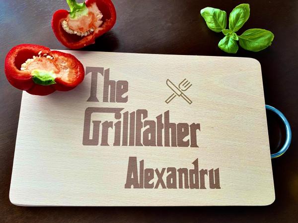 """Tocător de bucătărie personalizat """"The Grillfather"""" [1]"""