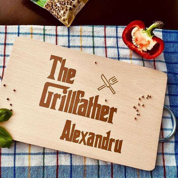 """Tocător de bucătărie personalizat """"The Grillfather"""" [0]"""