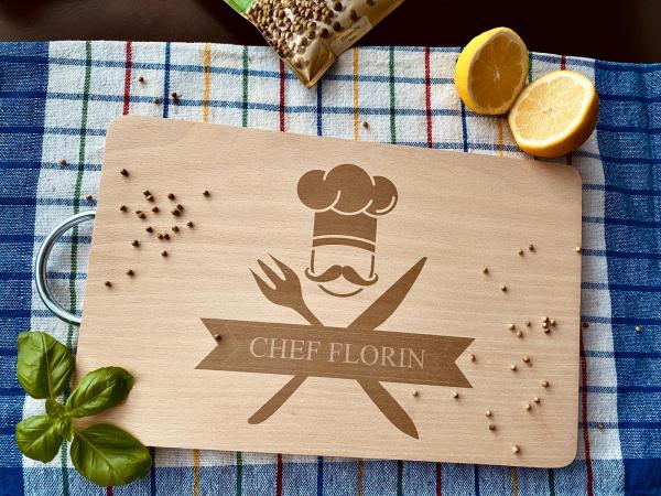 """Tocător de bucătărie personalizat """"Chef"""" [1]"""