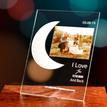 """Placheta personalizata """"Love you to the moon and back"""" [0]"""