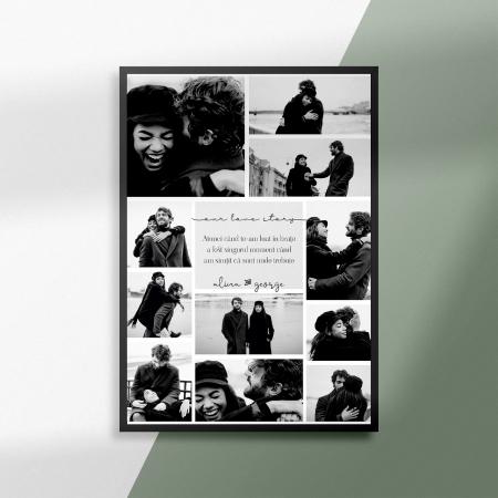 Tablou personalizat cu 11 poze si text