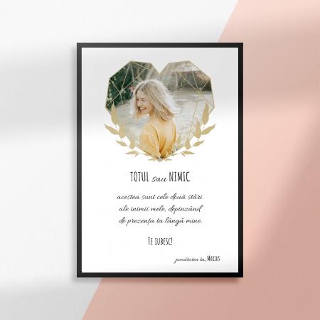 Tablou personalizat cu poza si text-Totul sau nimic