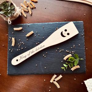 """Lingură de lemn personalizată """"King of the kitchen"""""""