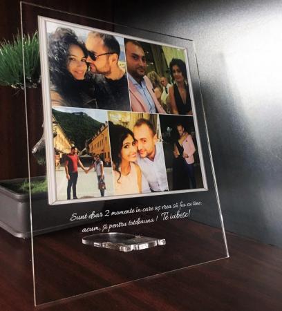 Plachetă personalizată cu 5 poze și mesaj [2]