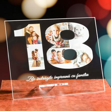 Plachetă personalizată număr cu 7 poze și mesaj