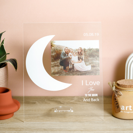 """Placheta personalizata """"Love you to the moon and back"""" [1]"""