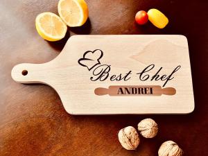 """Tocător de bucătărie personalizat """"Best Chef"""" [1]"""