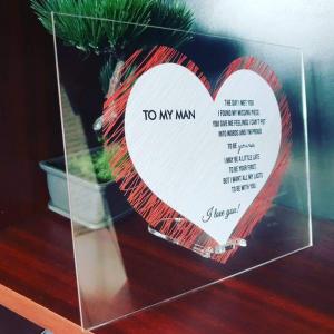 """Plachetă personalizată """"To my man"""""""