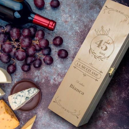Cutie de vin personalizată cu mesaj - pentru ea