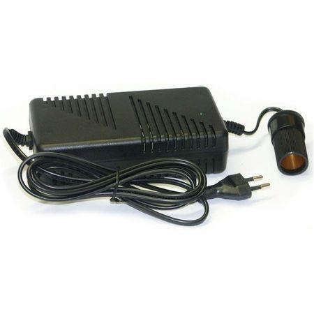 Adaptor priza 230V la 12V 8A cu mufa brigheta auto 0