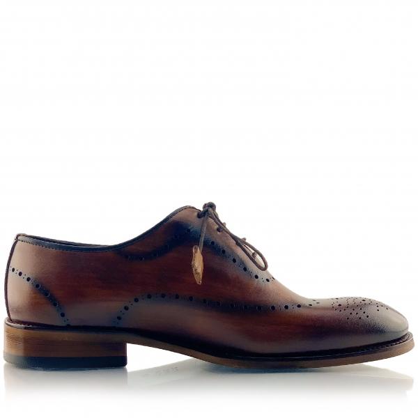 Pantofi eleganți din piele naturală Orlando Maro 3