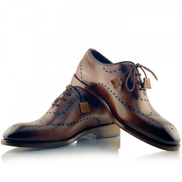 Pantofi eleganți din piele naturală Orlando Maro 0