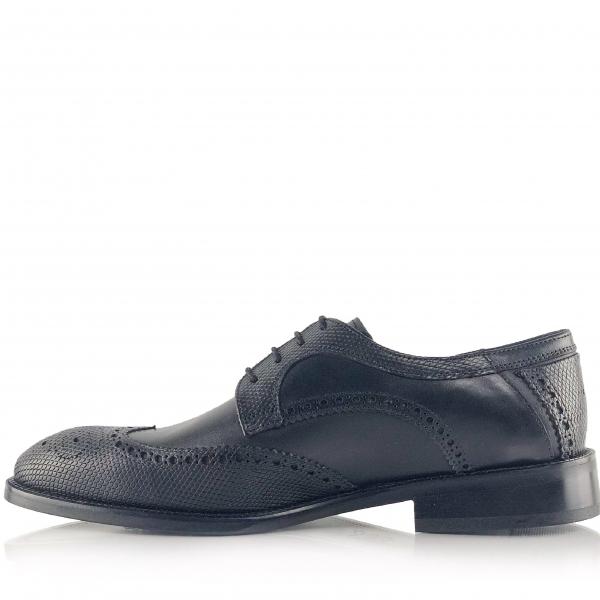 Pantofi eleganți din piele naturală Oxford Negri 3