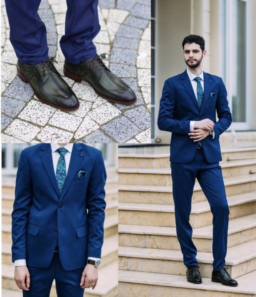 Pantofi eleganți din piele naturală DAVIS - verde închis 6