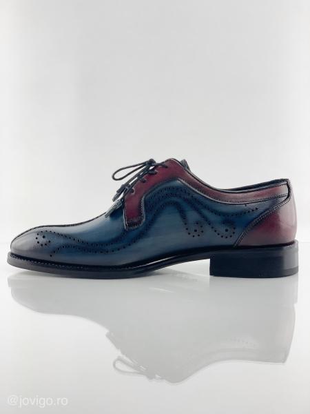 Pantofi eleganți din piele naturală DAVIS - bordeaux 3