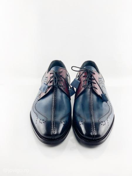 Pantofi eleganți din piele naturală DAVIS - bordeaux 2