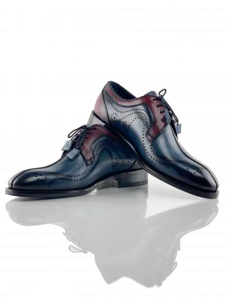 Pantofi eleganți din piele naturală DAVIS - bordeaux 1