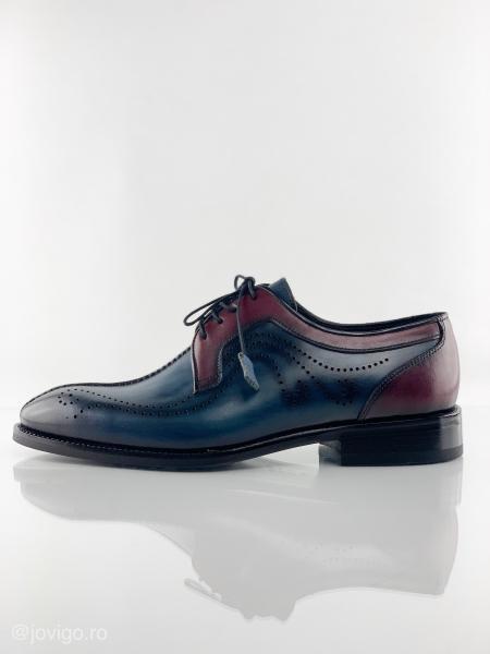Pantofi eleganți din piele naturală DAVIS - bordeaux 5