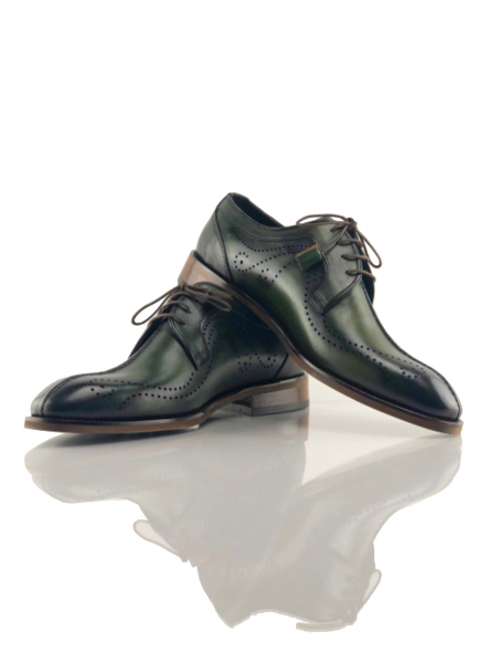 Pantofi eleganți din piele naturală DAVIS - verde închis 1
