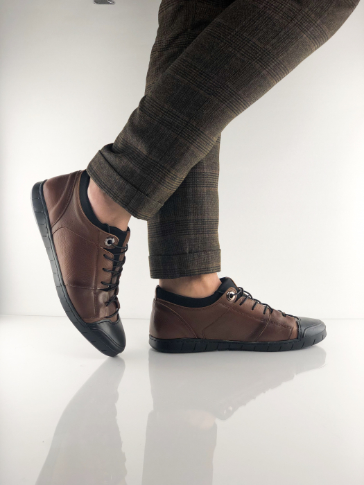Pantofi sport din piele Brown Bear 5