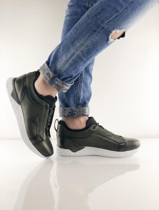 Pantofi sport din piele Green Archer 7