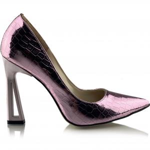 Pantofi Glory  Croco Lila1