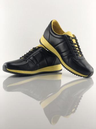 Pantofi sport din piele BLACK N YELLOW1