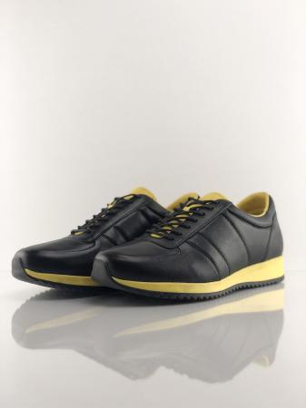 Pantofi sport din piele BLACK N YELLOW3