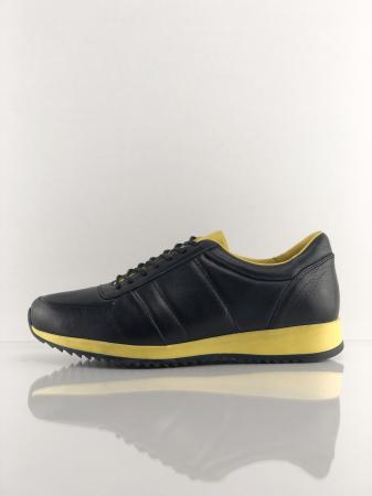 Pantofi sport din piele BLACK N YELLOW4