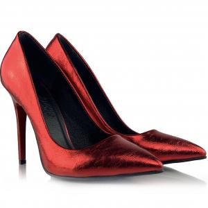 Pantofi Arina Rosii0