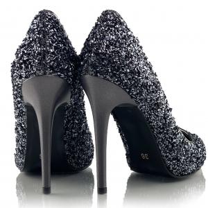 Pantofi Charlotte Argintii2