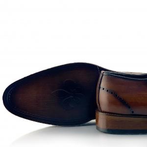 Pantofi eleganți din piele naturală Orlando Maro4